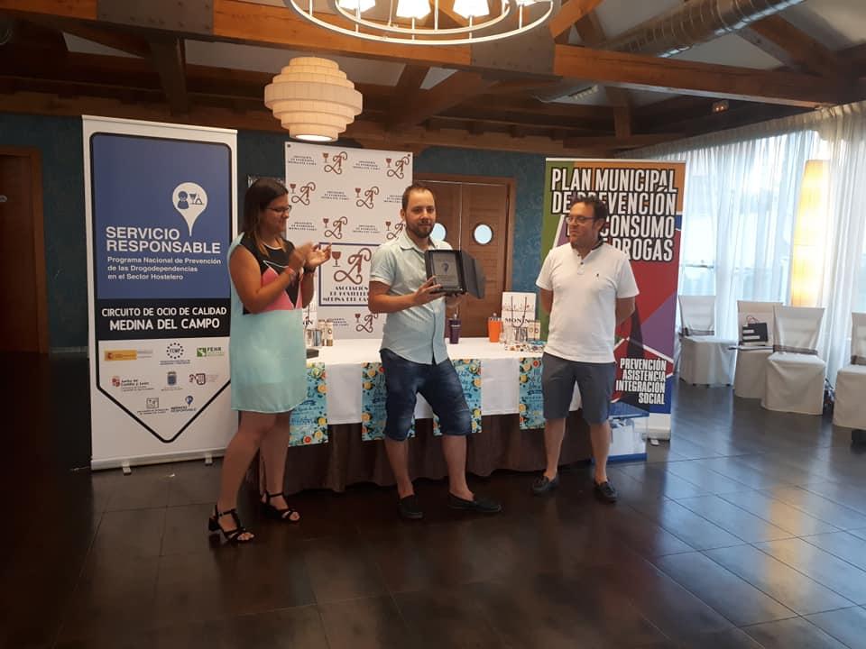 1º premio - 3º ruta de cócteles sin alcohol - medina del campo - yovoy