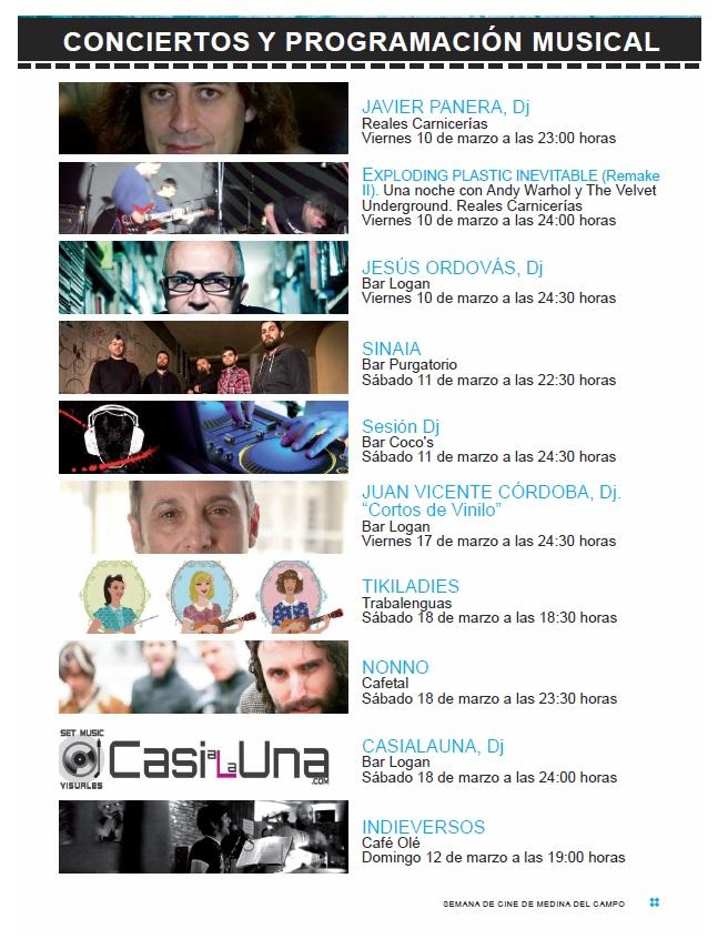 conciertos Semana de Cine